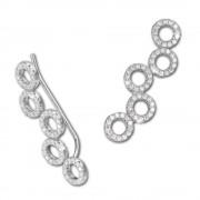 SilberDream Ear Cuff Circle Zirkonia Ohrringe Ohrklemme 925 Silber GSO424W