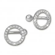 SilberDream Ohrklemme Kreise Zirkonia Ear Cuff Ohrringe 925 Silber GSO435W