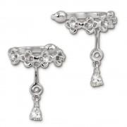 SilberDream Ohrklemme Blumen Zirkonia Ear Cuff Ohrringe 925 Silber GSO436W