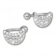 SilberDream Ohrklemme Halbmond Zirkonia Ear Cuff Ohrringe 925 Silber GSO437W