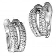 SilberDream Ohrklemme Line Zirkonia Ear Cuff Ohrringe 925 Silber GSO469W