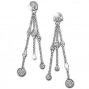 SilberDream Glitzer Ohrhänger 55mm Zirkonia weiß 925 Silber Ohrring GSO474W