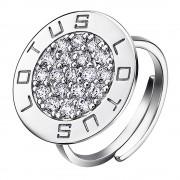 LOTUS Silver Ring Circle 925 Silber LP1252-3/1 weiß Zirkonia Trendy JLP1252-3-1