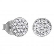 LOTUS Silver - Damen Ohrring Kreis weiß Ohrstecker aus 925 Silber JLP1258-4-1