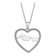 LOTUS Silver Halskette Mama Herz 925 Silber LP1813-1/1 weiß Zirkonia JLP1813-1-1