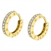 LOTUS Silver - Damen Ohrring vergoldet weiß Creole aus 925 Silber JLP1887-4-4