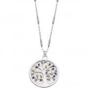 LOTUS Silver - Damen Halskette Lebensbaum farbig aus 925 Silber JLP1889-1-1