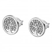 LOTUS Silver - Damen Ohrring Lebensbaum weiß Ohrstecker 925 Silber JLP1892-4-1
