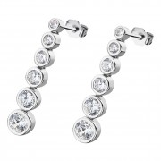 LOTUS Silver - Damen Ohrring Zirkonia weiß Ohrstecker aus 925 Silber JLP1915-4-1