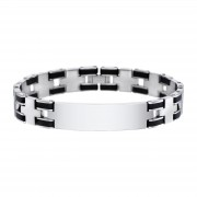 LS Armband Edelstahl schwarz Lotus Style Herren Schmuck JLS1177-2-4