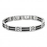 LOTUS Style Armband Herren LS1800-2/1 Edelstahl silber schwarz JLS1800-2-1