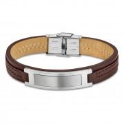 LOTUS Style Armband Herren Leder silber braun LS1808-2/1 Urban JLS1808-2-1