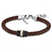 Lotus Style Armband Herren Edelstahl silber, braun LS1814-2/4 Urban JLS1814-2-4