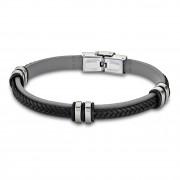 LOTUS Style Armband Damen Herren LS1829-2/4 Leder grau schwarz JLS1829-2-4