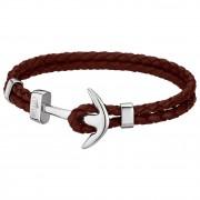 Lotus Style Armband Herren Leder silber, braun LS1832-2/C Urban JLS1832-2-C