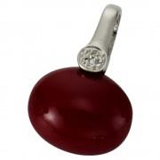 KISMA Schmuck Anhänger für Ketten rot Sterling Silber 925 KIH0111-004