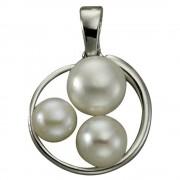 KISMA Schmuck Anhänger Perle weiß für Ketten Silber 925 KIH0114-014