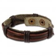 SilberDream Lederarmband schwarz Herren Leder Armband LA0014