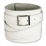 SilberDream Lederarmband weiß Damen Leder Armband LA1302W
