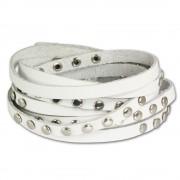 SilberDream Lederarmband weiß Damen Leder Armband LA2250W