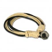 SilberDream Lederarmband black Surferarmband Leder Armband LA3247S