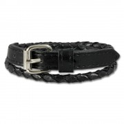 SilberDream Lederarmband schwarz Herren Leder Armband LAC038S