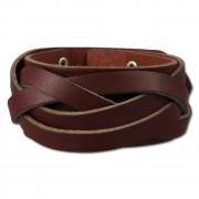 SilberDream Lederarmband bordeaux rot crossover Leder Armband LAC660R