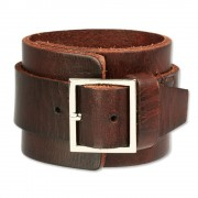 SilberDream Lederarmband braun Herren Leder Armband LAP014B