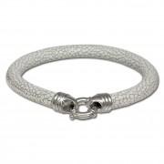 SilberDream Leder Armband weiß 6mm mit 925er Verschluss LS2622