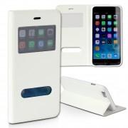 Handyhülle iPhone 6 6S weiß Bookstyle Case Kunstleder DrachenLeder OME100K