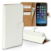 Handyhülle iPhone 6 weiß Bookstyle Kartenfächer Kunstleder DrachenLeder OME102K
