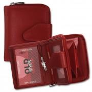 DrachenLeder Geldbörse rot Damen Portemonnaie Leder OPD104R