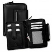 Geldbörse Leder schwarz Brieftasche Portemonnaie Hochformat DrachenLeder OPD716S