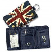 Minibörse Canvas blau Geldbörse Portemonnaie Union Jack Robin Ruth OPG100F