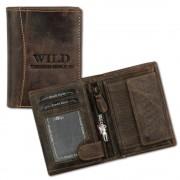 Geldbörse braun Leder Portemonnaie DrachenLeder OPJ100N
