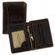 Geldbörse Leder braun Portemonnaie Geldbeutel WildThingsOnly OPJ113N