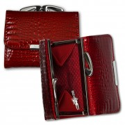 Geldbörse Leder rot kleines Portemonnaie Minibörse Jennifer Jones OPJ119R