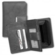 Money Maker Geldbörse Leder grau Brieftasche Portemonnaie RFID Schutz OPJ701K