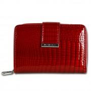 Jennifer Jones Geldbörse Portemonnaie RFID Schutz Croco Echt-Leder rot OPJ711R