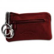 Schlüsseltasche rotbraun Echtleder, glattes Leder Etui Bag Street OPJ900C