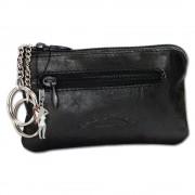 Schlüsseltasche schwarz Echtleder, glattes Leder Etui Bag Street OPJ900S