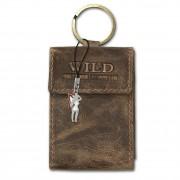 Etui, Geldbörse Leder braun Minibörse Schlüsseltasche Wild Things Only OPJ904N