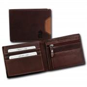 DrachenLeder Geldbörse braun Echtleder Portemonnaie Brieftasche Damen OPR704N OPT001N