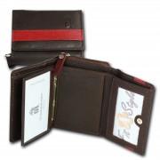 DrachenLeder Geldbörse braun dunkelrot Leder Portemonnaie Brieftasche OPZ100D
