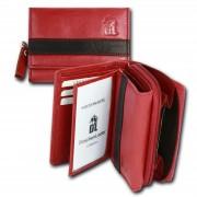 Geldbörse DrachenLeder rot schwarz Leder Portemonnaie Brieftasche OPZ100R
