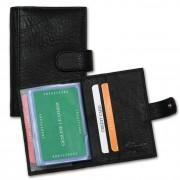 Kreditkartenetui Visitenkartenetui XXL Kartenetui Leder schwarz OPZ400S