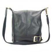Schultertasche, Rucksack schwarz wandelbare Damen Handtasche Leder OTF104S