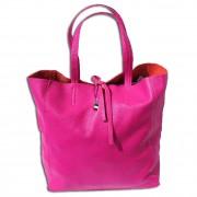 Florence ital. Shopper Echtleder Damen Schultertasche Business pink OTF112P