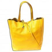 Florence ital. Shopper Echtleder Damen Schultertasche Business gelb OTF112Y