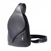 Rucksack, Schultertasche Leder schwarz Damenhandtasche DrachenLeder OTF602F